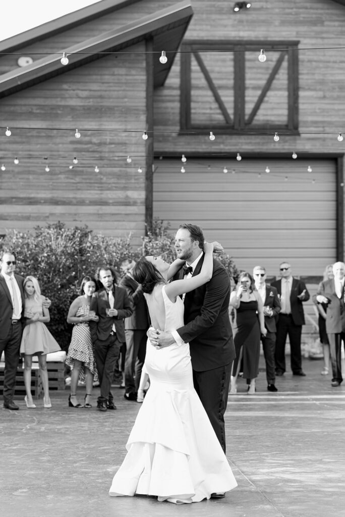 Layne and Vince wedding, The Lodge at Blue Sky, June wedding, Utah wedding, sky blue and navy color scheme, first dance